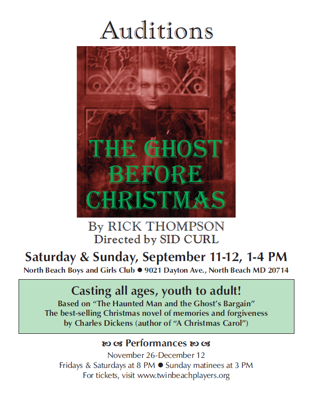 ghost audition flyer